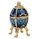 Design Toscano The Pushkin Collection Romanov Style Enameled Egg: Natalia