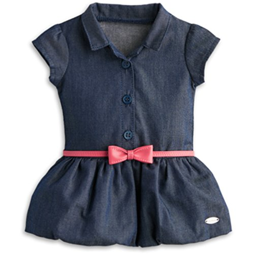 American Girl Denim (American Girl Indigo Bubble Dress for 18 inch Dolls)