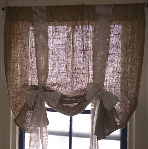 Km Curtains Handmade Tie up Valance Window Treatment Valance 72 wide x 30 long