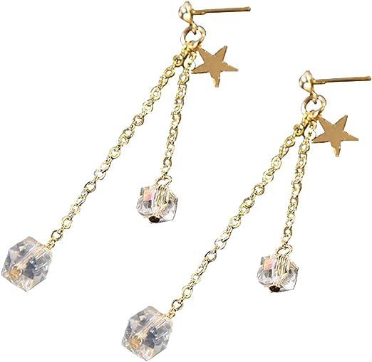 Charm Fashion Women Drop Ear Jewelry Metal Chain Tassel Dangle Long Earrings