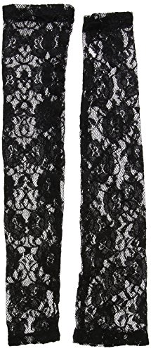 French Madame Sexy Costumes (Fever Women's Long Lace Gloves, Fingerless, Black, One size, 24731)