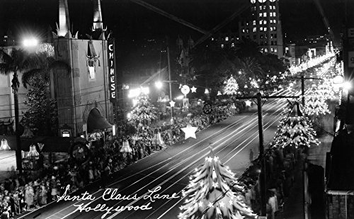 Hollywood, California - Santa Claus Lane Parade on Hollywood Blvd Photograph (16x24 SIGNED Print Master Giclee Print w/ Certificate of Authenticity - Wall Decor Travel - Map Of Blvd Hollywood