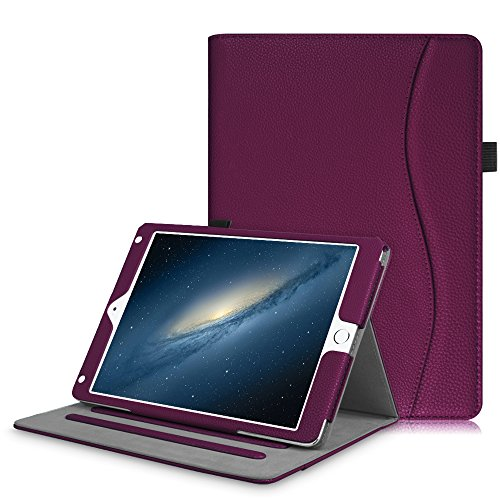 Fintie iPad 9.7 2018 2017 / iPad Air 2 / iPad Air Case - [Corner Protection] Multi-Angle Viewing Folio Cover w/Pocket, Auto Wake/Sleep for Apple iPad 6th / 5th Gen, iPad Air 1/2, Purple by Fintie