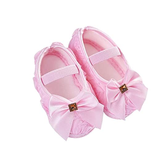 740c15605dd3 Amazon.com: Riverdalin Newborn Infant Mary Jane Flats Baby Girls Non ...