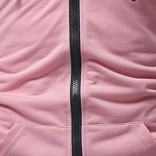 HHei_K Mens Autumn Winter Casual Plain Slim Fit Long Sleeve Full Zipper Coat Pocket Hoodies Sweatshirt Blouse by HHei_K (Image #4)