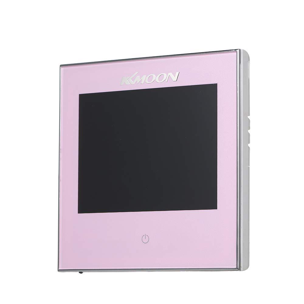 Termostato Inteligente para Caldera de Gas,Wifi Regulador de Sistema,Controlador con Pantalla Negativa T/áctil LCD,Programable 5A AC 95-240V WIFI, negro