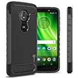 Moto G6 Play Case, CoverON Protective Phone Cover with Shock Absorbing Protection and Carbon Fiber Accents for the Motorola Moto G6 Play - All Black