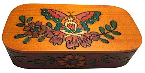 Fairy Box Polish Handmade Wood Keepsake Jewelry Box Kids Secret Box