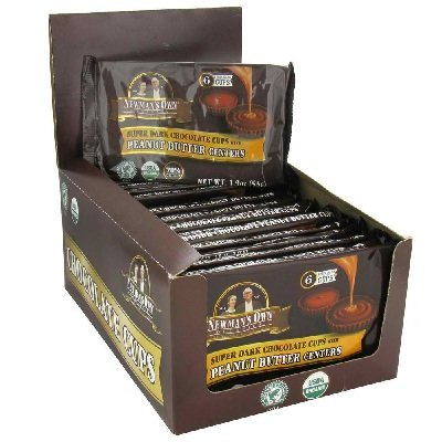 Newman's Own Organics - Super Dark Chocolate Cups with Peanut Butter Centers - 1.9 oz.