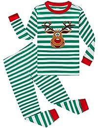 Boys Pajamas Long Sleeve 100% Cotton Little Kids Pjs Sleepwear