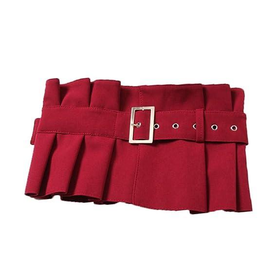 Accesorios de jeans plisados con volantes cola larga cintura ...