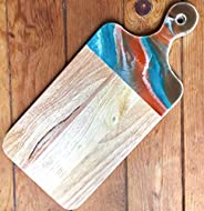 Geode Theme Wood Cutting Board with handle or Cheese Serving Board