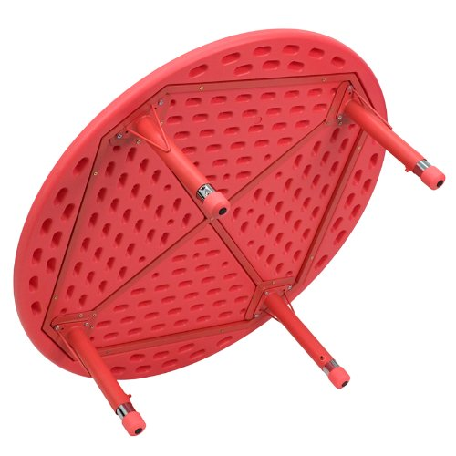 Flash Furniture 45'' Round Red Plastic Height Adjustable Activity Table