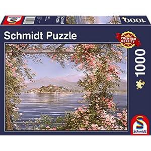 Schmidt Spiele 58378 Puzzle Da 1000 Pezzi Motivo Isola Del Mediterraneo Multicolore