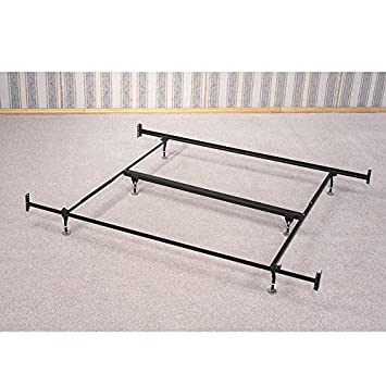 coaster bed framerail with glides for headboard and footboard eastern king