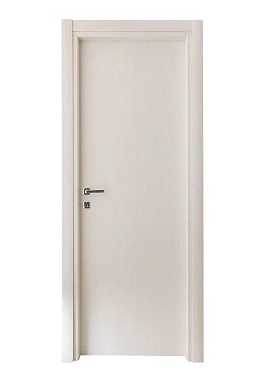 Kimono Porte Interne Ecodoor in Laminato Bianco Effetto Legno, Reversibili  Destre o Sinistre Misure (210 X 70)