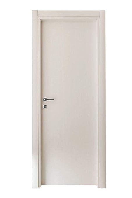 Kimono Porte Interne Ecodoor in Laminato Bianco Effetto Legno, Reversibili  Destre o Sinistre Misure (210 X 80)