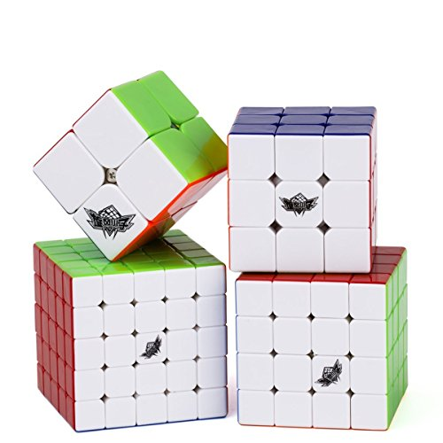Vdealen Bundle Speed Cube 2x2 3x3 4x4 5x5 Stickerless Smooth Magic Cube...
