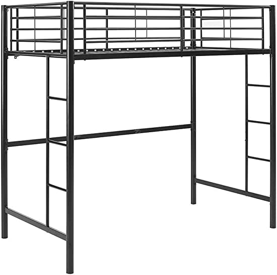 Home Accent Furnishings Sunrise Twin Over Loft Metal Bunk Bed