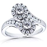 Two-Stone-Diamond-Curved-Ring-1-CTW-in-14k-White-Gold