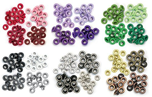 We R Memory Keepers - Standard Eyelets - Red, Purple, Green, Grey, Warm Metal & Cool Metal - 6 item - Eyelets Memory Keepers Wide