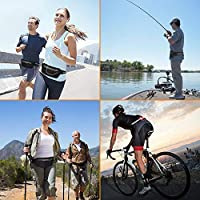 Runner Waist Pack iPhone X 6 7 8 for Men and Women USA Patented ZinonMax Running Pouch Belt with LED Light