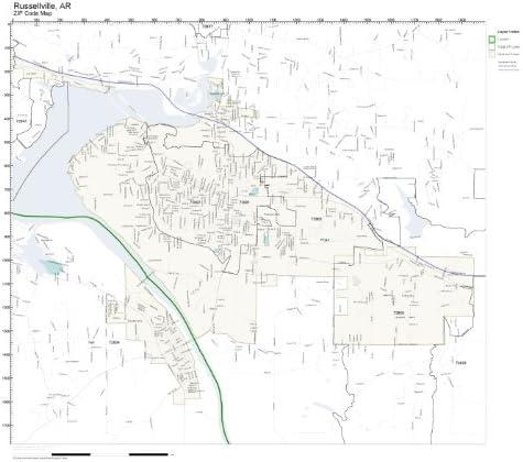 russellville ar zip code map Amazon Com Zip Code Wall Map Of Russellville Ar Zip Code Map
