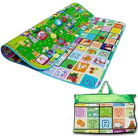 Alphabet Design Denny International/® Kids Crawling Educational Play Mat 2 Side Game Soft Foam Large Size Picnic Carpet 200X180cm