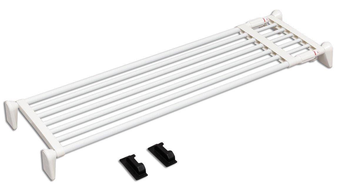 アイリスオーヤマ 突っ張り 棚 伸縮棚 超強力 ワイド 幅110~190cm ホワイト H-J-W110
