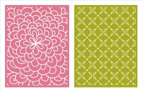 QUICKUTZ Lifestyle Crafts Bloom Embossing Folder, 2-Pack
