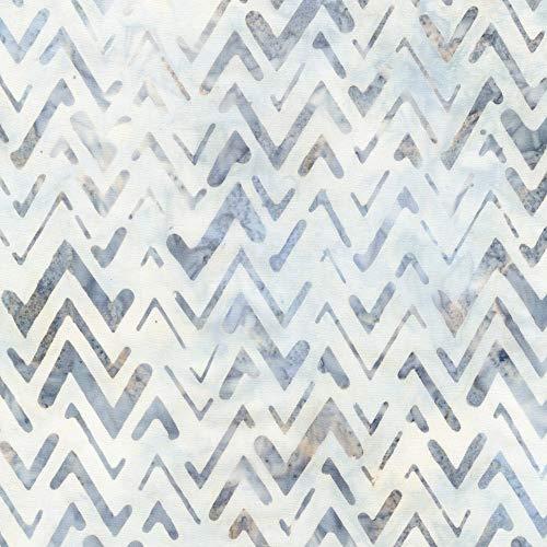 (Robert Kaufman Texture Study Artisan Batiks Silver Bali Chevrons)