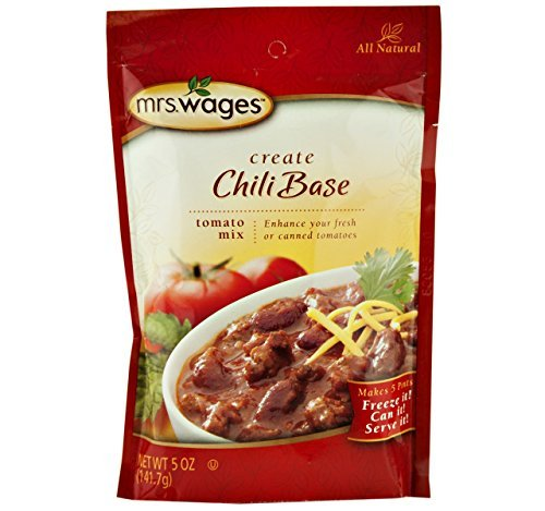 Mrs. Wages Chili Base Tomato Seasoning Mix, 5 Oz. Pouch (Pack of 2) (Best Tomato Base For Pizza)