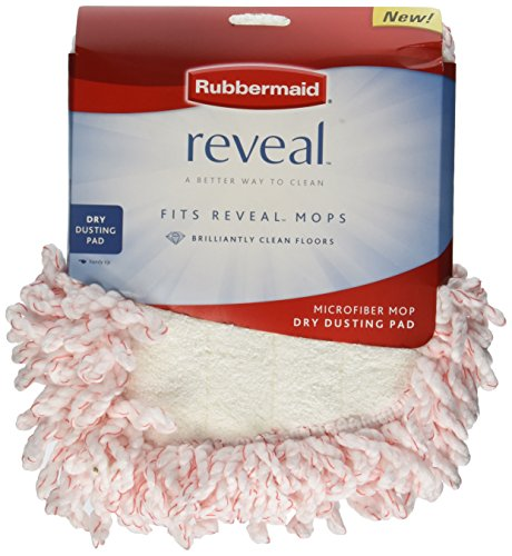 Rubbermaid 1M20 Reveal Mop Dry Dusting Cleaning Pad, 2-Pack -  Rubbermaid Inc, 1M20-00-RED