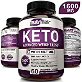 Keto Diet Pills 1600mg Advanced Weight Loss Ketosis Supplement - Natural BHB Salts (beta hydroxybutyrate) Ketogenic Carb Blocker and Fat Burner Capsules - Best Keto Pills - Ideal Weight Loss Support