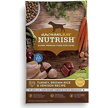 Rachael Ray Nutrish Natural Dry Dog Food, Turkey, Brown Rice & Venison Recipe, 26 lbs