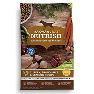 Rachael Ray Nutrish Premium Natural Dry Dog Food, Turkey, Brown Rice & Venison Recipe, 5.5 Pounds