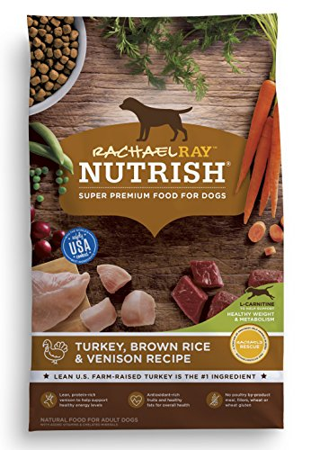 Rachael Ray Nutrish Natural Dry Dog Food, Turkey, Brown Rice & Venison Recipe, 26 (Brown Rice Weight)