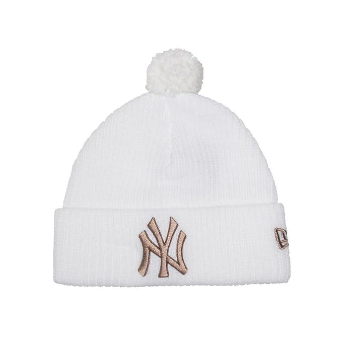 Cappello Pon Pon NY Yankees Bobble New Era (Bianco Oro) - Taglia Unica c3448a7977ba