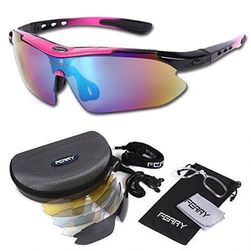 (페리) FERRY 편광 렌즈 스포츠 썬글라스 풀 세트 전용 교환 렌즈5매 유니섹스 7컬러