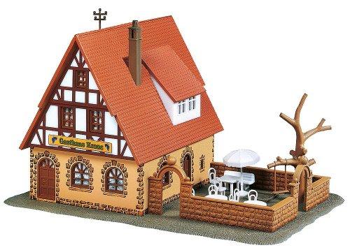 Faller 130314 Inn Zur Krone with Patio HO Scale Building Kit (Inn Patio)