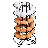 Modern Spiral Design Kitchen Counter-Top Black Metal Egg Skelter / Storage Organizer Rack for Eggs
