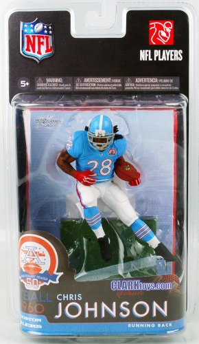 McFarlane Toys NFL Sports Picks Exclusive Action Figure Chris Johnson (Tennessee Titans) Houston Oilers AFL Jersey Mcfarlane Nfl Picks