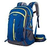 Waterproof Hiking Backpack, 40L Nylon Large Capacity to meet Sport Camping Travel Trekking Rucksacks Pack Mountaineering Climbing Knapsack (40L 02 Blue, 40L)