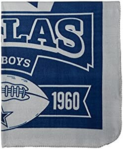 NFL Dallas Cowboys Marque Printed Fleece Throw, 50