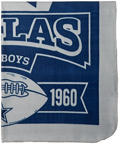 NFL Dallas Cowboys Marque Printed Fleece Throw, 50-inch by 60-inch