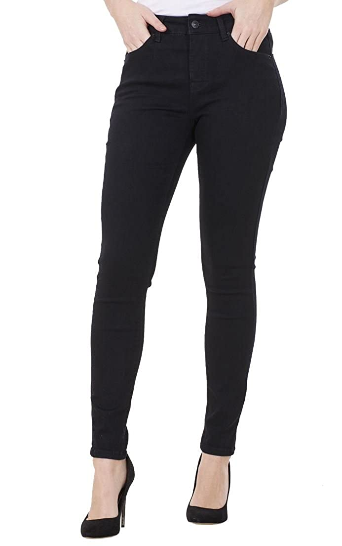 CURVE APPEAL Ladies Skinny Tummy Control Slim Pants Stretch High Rise Womens Denim Jeggings