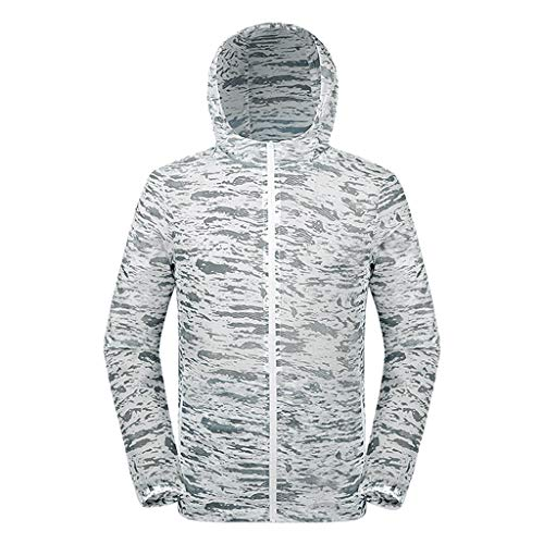 (Big Sale! Men's and Women's Summer Breathable Sunscreen Camouflage Hooded Outdoor Breathable Thin Windbreaker)