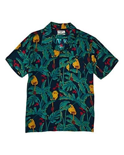 Billabong Men's Vacay Print Short Sleeve Woven Shirt Shirt, Navy, S