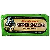 Season Kipper Snacks (Fillets of Herring), 3.25-Ounce Tins (Pack of 24)