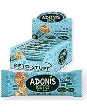 Adonis Low Sugar & Keto Vanille Snack Nuss Riegel | 100% Natural, Low Carb, Glutenfrei, Vegan, Keto, Paleo